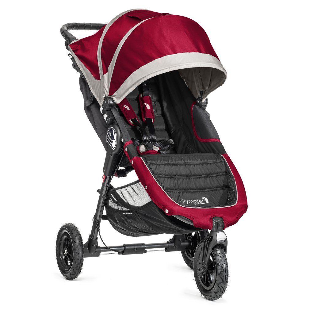 poussette city mini 3 roues gt rouge baby jogger bambinou