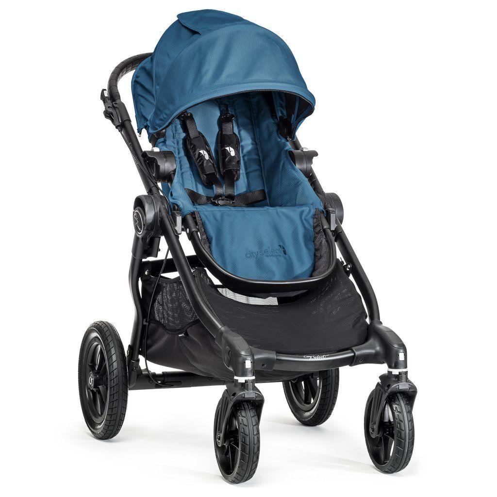 poussette city select avec siege bleu sarcelle 1 ou 2 enfants baby jogger bambinou