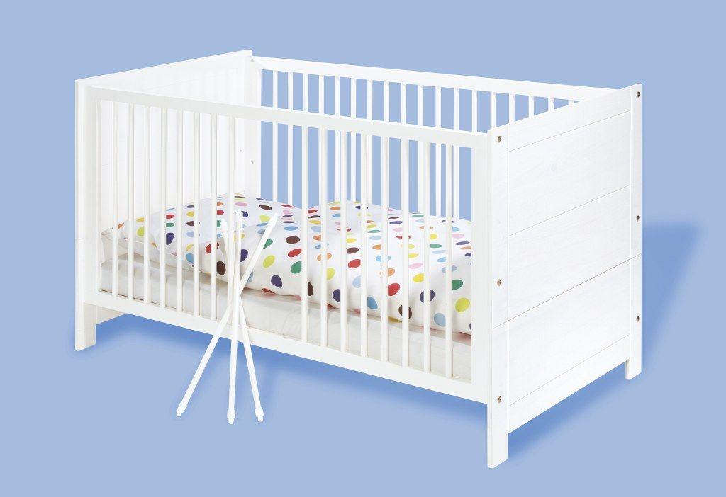 Lit bébé évolutif Puro blanc bois massif 70 x 140 pinolino bambinou