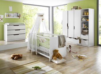 Chambre bébé Duo Fresh marron: lit armoire commode à langer geuther bambinou