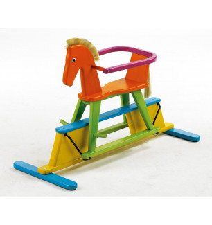 Cheval Swingly Stern en bois massif multicolore Geuther BamBinou