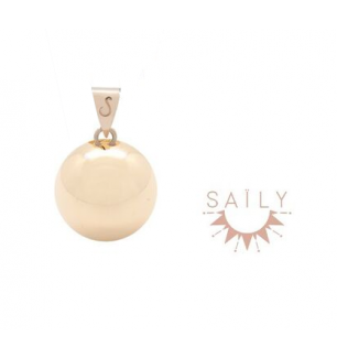 Bola Lisse Plaqué Or Jaune Saily
