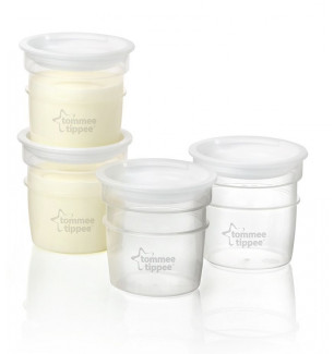 Lot de 4 Pots de stockage de lait Closer to Nature Tommee Tippee BamBinou