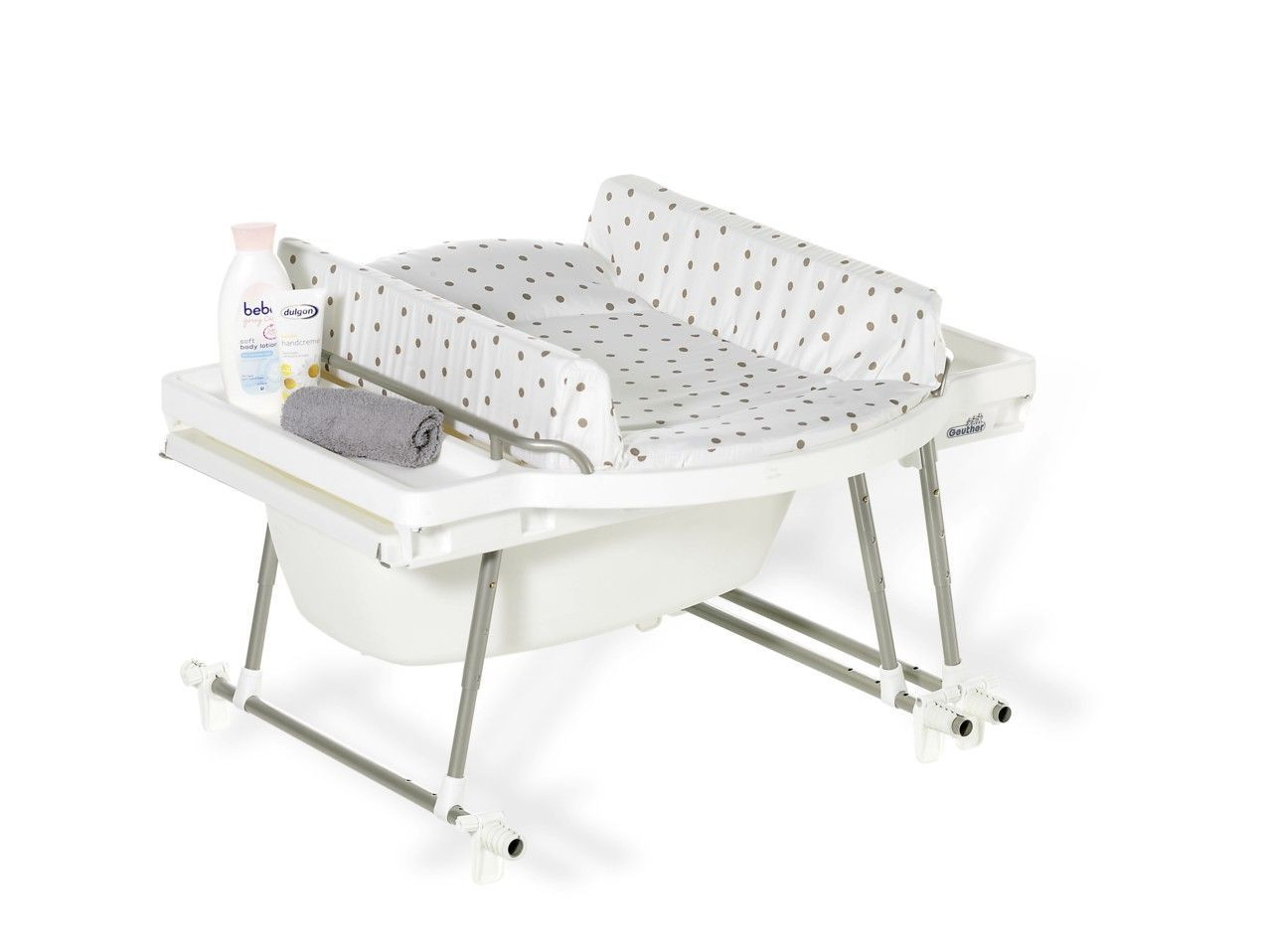 Ensemble baignoire table langer aqualino geuther bambinou - Baignoire bebe table a langer pliante ...